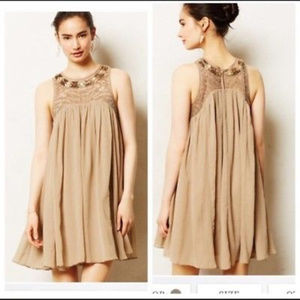 Moulinette Soeurs Anthro dress XS 2 Taupe Gold